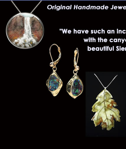 Cathy Cline Designs, custom jewelry, enamel, 14k, 18k, sterling jewelry, handmade jewelry, leaf jewelry, waterfall jewelry, boulder opal, unique stones, Sierra Nevada, nature
